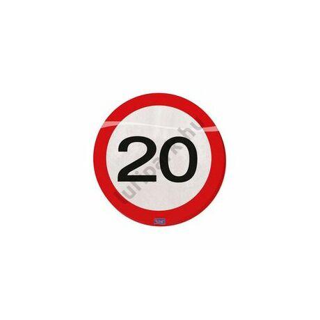 20. Számos Sebességkorlátozó Születésnapi Party Szalvéta - 30 cm, 20 db-os
