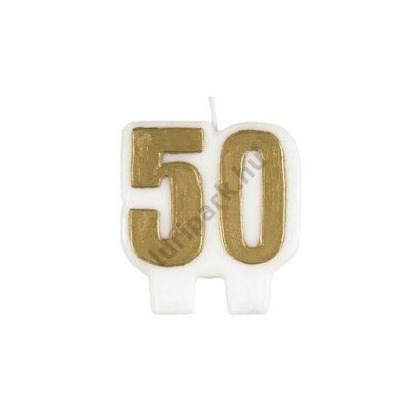 50-es Arany Szülinapi Számgyertya