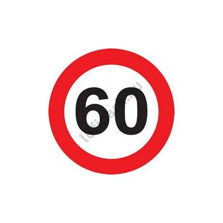 60-as Sebességkorlátozó Születésnapi Tábla - 40 cm