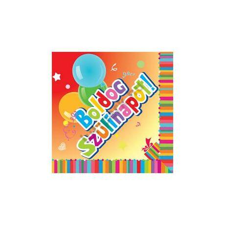 Boldog Születésnapot! Szalvéta - 33 cm x 33 cm, 20 db-os
