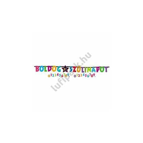 Boldog Szülinapot - Feliratozható Betűfüzér - 2,4 m