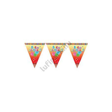 Boldog Születésnapot! Feliratos Zászlófüzér - 6 m