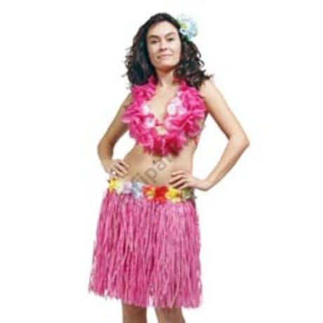 Hawaii Party Rózsaszín Fűszoknya - 45 cm