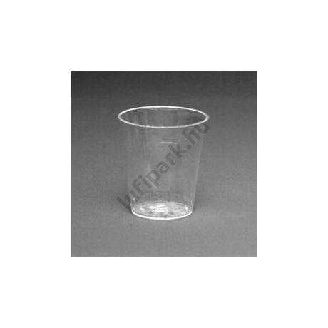 Átlátszó Műanyag Feles Pohár - 4 cl, 25 db-os