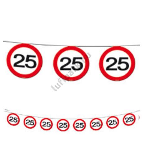 25-ös Sebességkorlátozó Születésnapi Party Füzér - 12 m