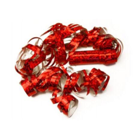 Piros fólia szerpentin 18 db-os, 4 méter