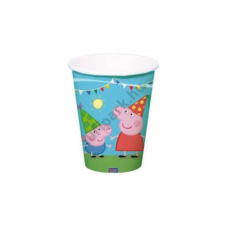 Peppa Malac Party Papírpohár - 8 db-os, 250 ml