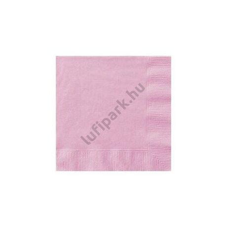 Pink Papír Parti Szalvéta - 33 cm x 33 cm, 20 db-os