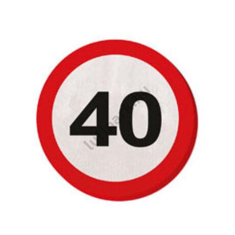 40. Számos Sebességkorlátozó Születésnapi Party Szalvéta - 30 cm, 20 db-os