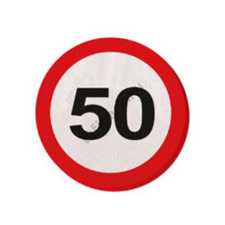 50. Számos Sebességkorlátozó Születésnapi Party Szalvéta - 30 cm, 20 db-os