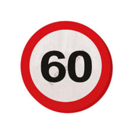 60. Számos Sebességkorlátozó Születésnapi Party Szalvéta - 30 cm, 20 db-os