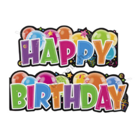 Happy Birthday Feliratú Születésnapi Party Felirat - 136 cm