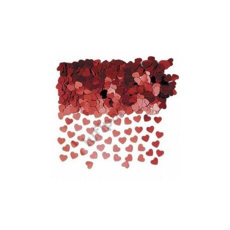 Piros Mini Szívek Konfetti - 14 gramm