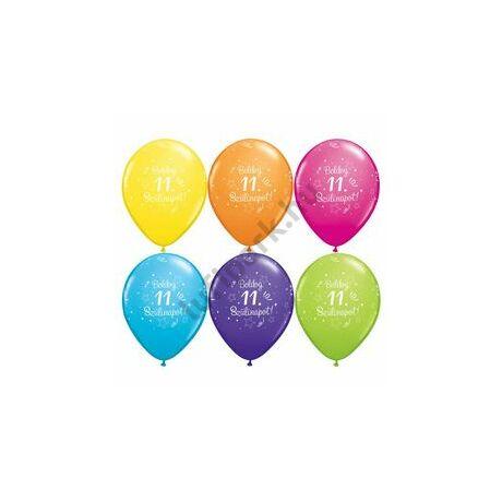 11 Inch-Es Boldog 11. Szülinapot Feliratú Shi. St. Ast. Szülinapi Lufi