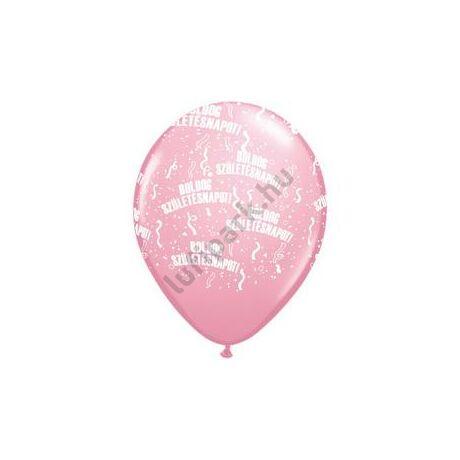 11 inch-es Boldog Születésnapot Pink Lufi