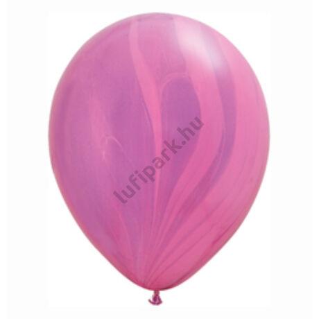 11 Inch-Es Pink Violet Rainbow SuperAgate Kerek Latex Lufi