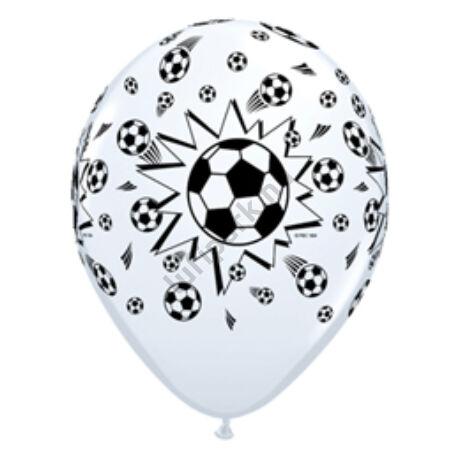 11 inch-es Soccer Balls White - Focilabdás Lufi