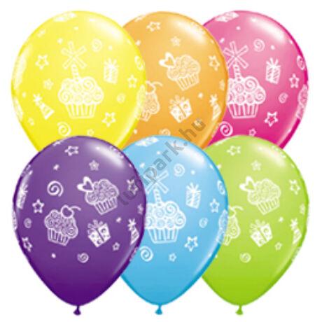 11 inch-es Cupcakes and Presents - Sütemények, Ajándékok Lufi