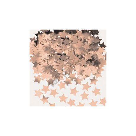 Rózsaarany - Rose Gold Csillag Fólia Parti Konfetti - 14 gramm