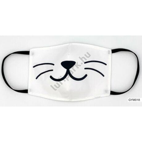 Szájmaszk - Macska bajszos szájmaszk