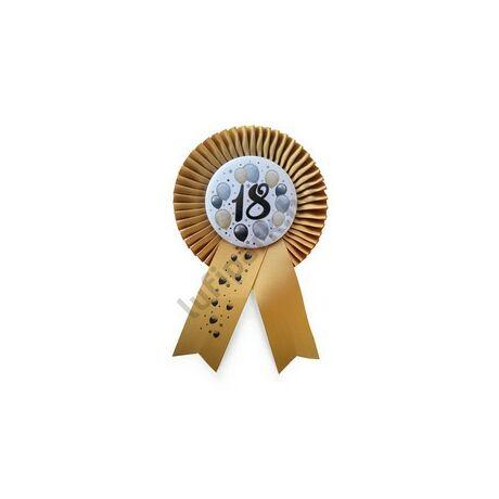 Arany Szalagos 18-as Elegáns Léggömbös Szülinapi Számos Parti Kitűző