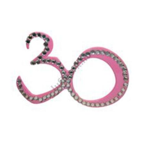 Rózsaszín 30-as Szülinapi Parti Szemüveg