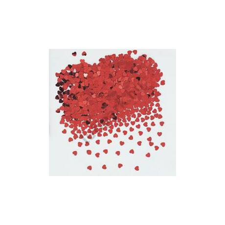 Piros Szívek Konfetti