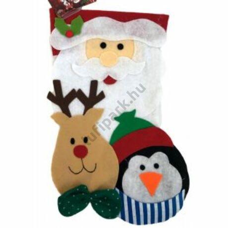 Karácsonyi textil mikulás csizma