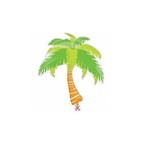 Summer Scene Palm Tree - Pálma Fa Super Shape Fólia Léggömb
