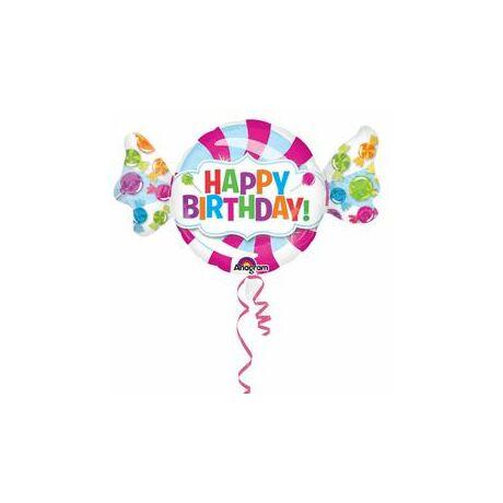 Édes Cukorka Nyalóka Super Shape Születésnapi Fólia Léggömb