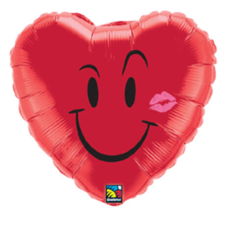 18 inch-es Pajkos Mosoly és Csók - Naughty Smile and A Kiss Szerelmes Fólia Léggömb