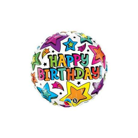 18 inch-es Birthday Csillagok Születésnapi Fólia Léggömb
