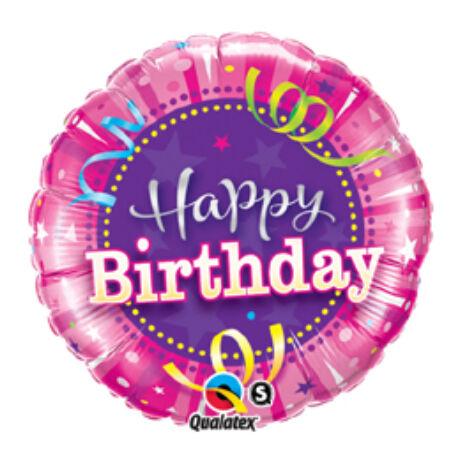 18 inch-es Rózsaszín - Birthday Hot Pink Születésnapi Fólia Léggömb