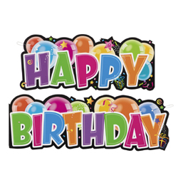 születésnapi parti Happy Birthday Feliratú Születésnapi Party Felirat   136 cm  születésnapi parti